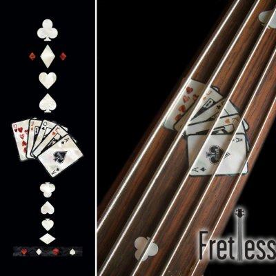 画像1: フレットレス用プレイングカード/トランプ(ホワイトパール)