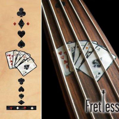 画像1: フレットレス用プレイングカード/トランプ(BLACKパール)
