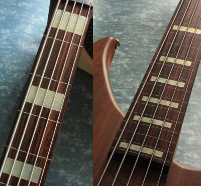画像3: ジャズ・ベース・ブロック(Agedホワイトパール) 5弦ベース用