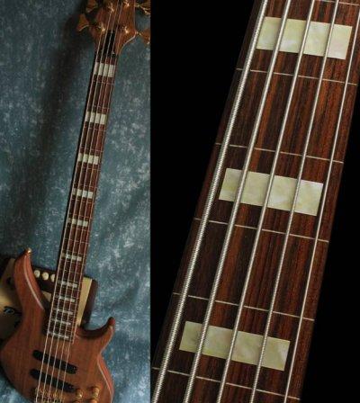 画像2: ジャズ・ベース・ブロック(Agedホワイトパール) 5弦ベース用