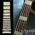 ジャズ・ベース・ブロック(Agedホワイトパール) 5弦ベース用